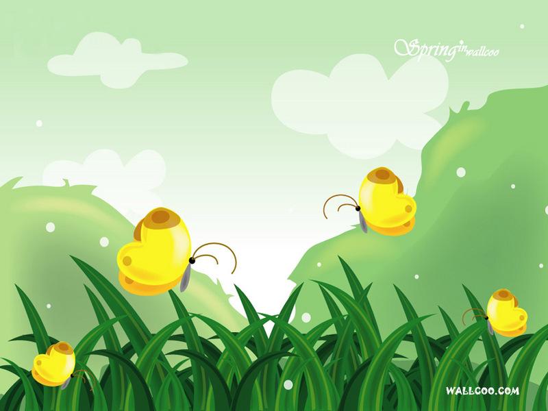 韩国风景矢量图 春天的童话 韩国风景矢量图 春天的童话10