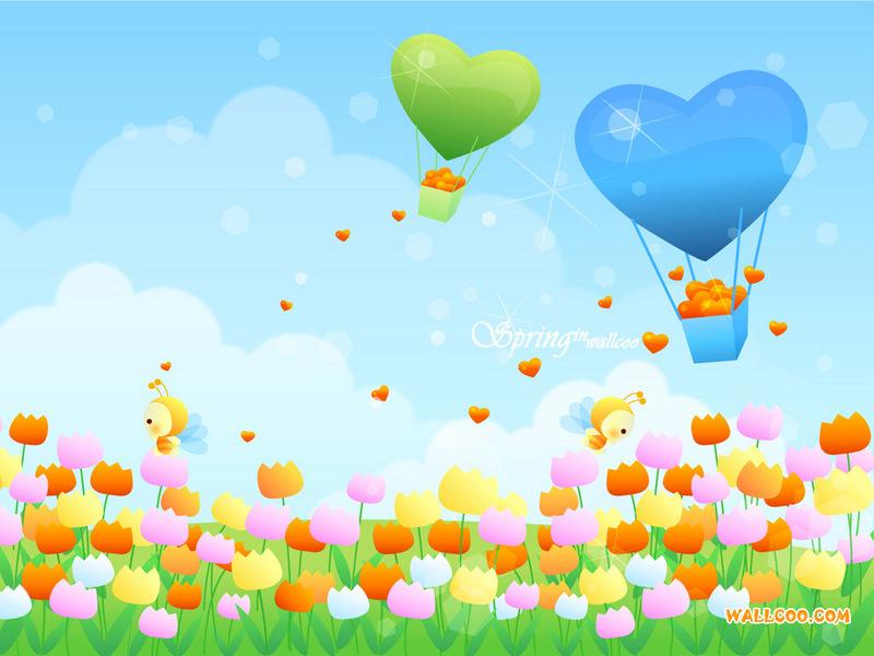 韩国风景矢量图 春天的童话 韩国风景矢量图 春天的童话15