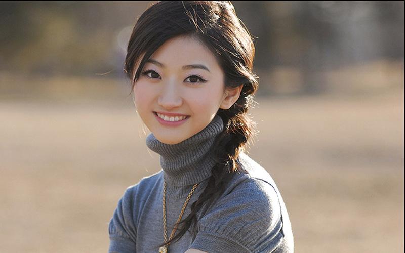 中国美女景甜宽屏壁纸图片