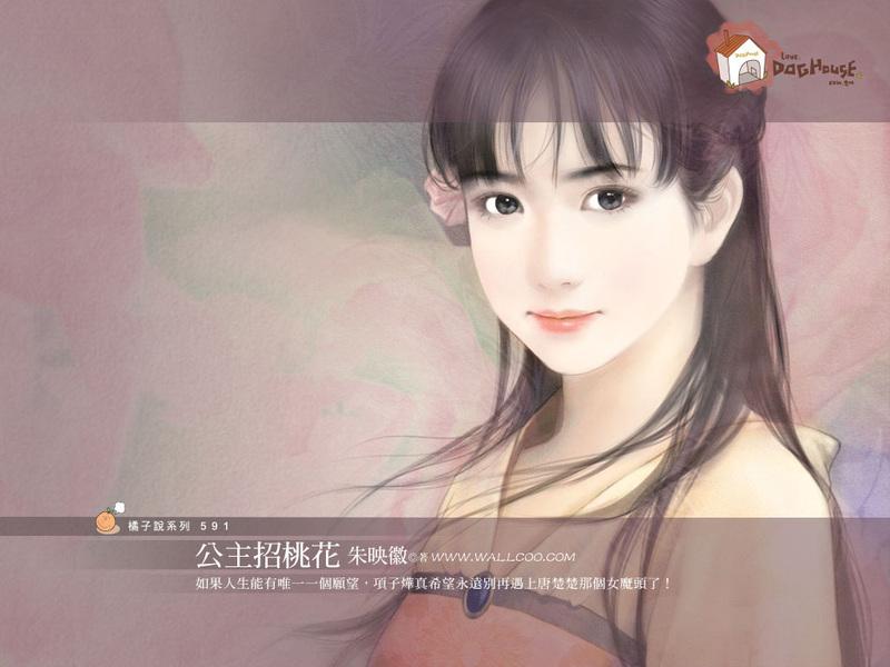 唯美手绘美女(第十辑)- 水粉画封面美女34