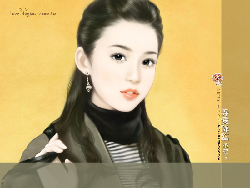 清纯手绘美女插画壁纸图片 第15张-ZOL壁纸库