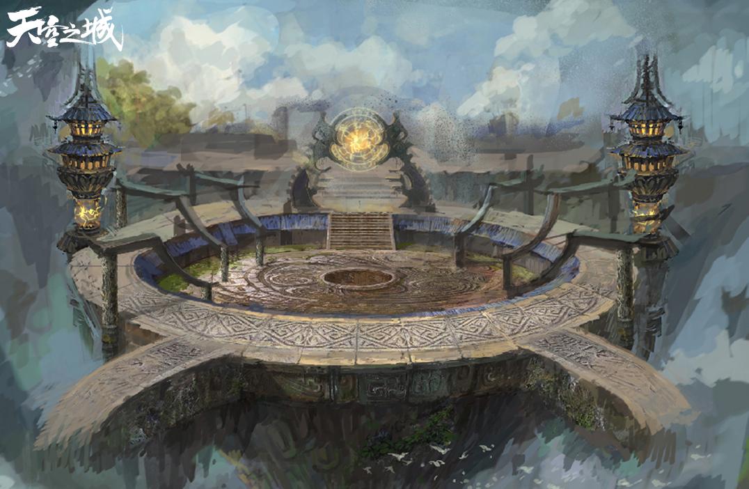 天空之城_图5; 天空之城;; 《天空之城》主城场景一隅